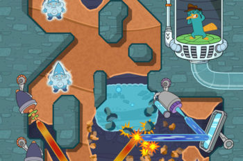 """20 New Laser-Reflecting Levels for Hit Mobile Puzzler """"Where's My Perry?"""""""