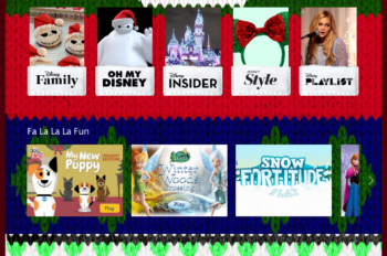 Visit Disney.com/Holiday for Disney Cheer this Holiday Season!
