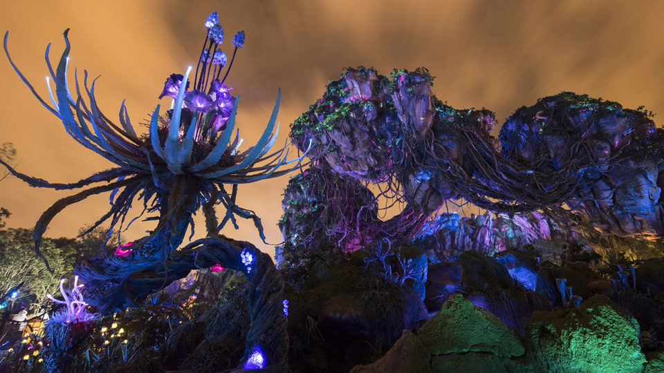 Pandora – The World of Avatar at Disney's Animal Kingdom at Night