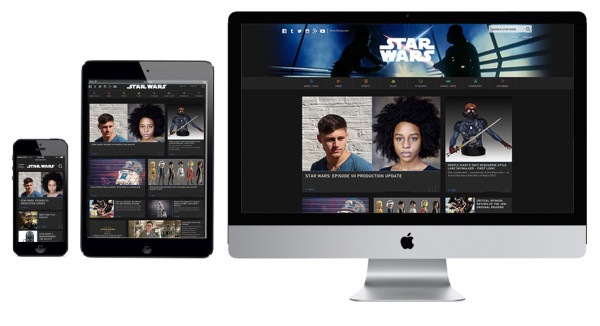 StarWars.com is built using responsive design technology to provide a consistent user experience across devices.
