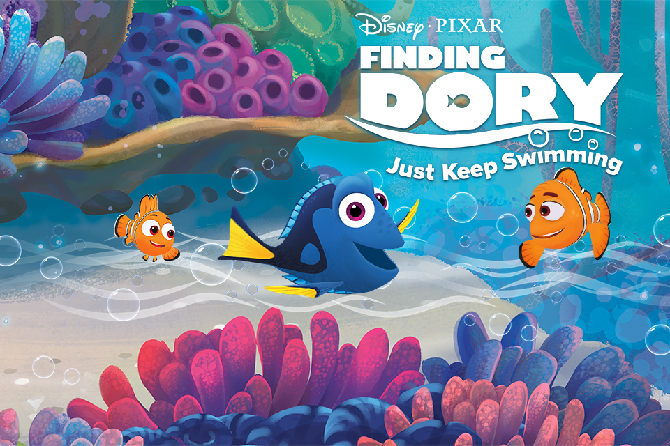Finding Dory: Just Keep Swimming - Art